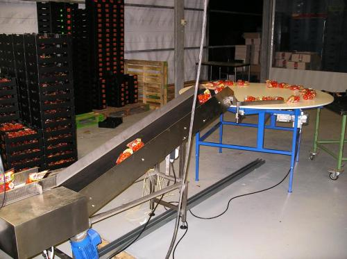 Tomato or Vegetables Turntabel buffertable Tomaten of Groente Draaitafel, buffertafel